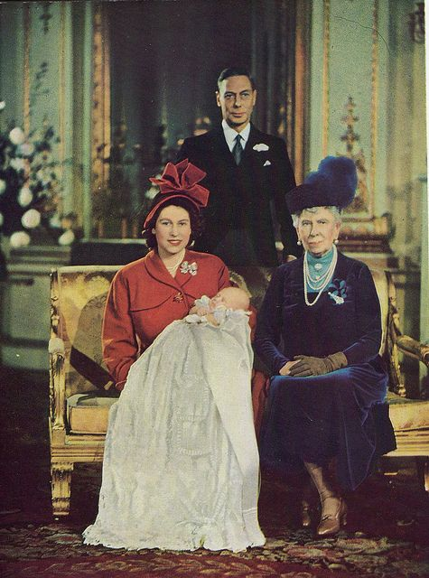 Four generations of Windsors (clockwise from top) HM The King (George VI); HM Queen Mary; HRH Prince Charles of Edinburgh; HRH The Princess Elizabeth, Duchess of Edinburgh