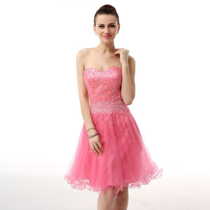 Real semi Coral Homecoming Dress Short Cute Cheap 8th Grade Graduation Dresses For Juniors Robe Courte Formal Women Dress 2017