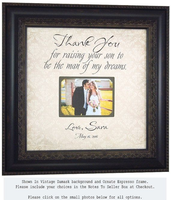 Thank You For Wedding Gift: Personalized Wedding Thank You Gift For Parents Of The