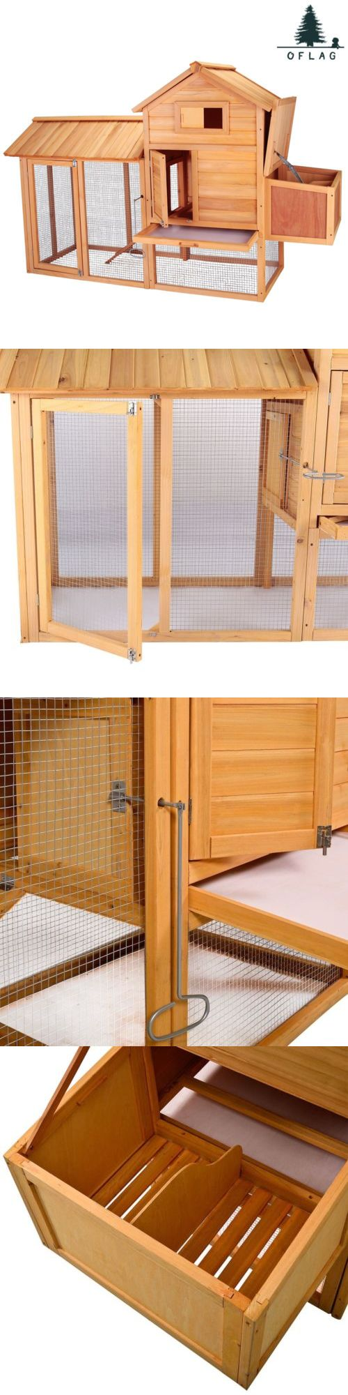 Backyard Poultry Supplies 177801: New Chicken Coop 83Hen House Rabbit Hutch Small Pet Animal Poultry Cage W/ Nest BUY IT NOW ONLY: $170.99