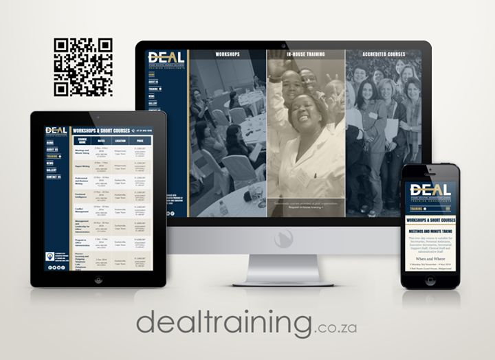 The new corporate ID and website for D.E.A.L Training Check it out at http://www.dealtraining.co.za #portfolio #website #mobile