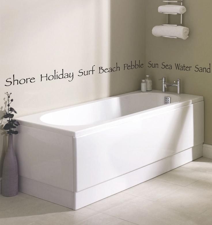 Beach Themed Bathroom Wall Decal Courtesy Of Www 4q