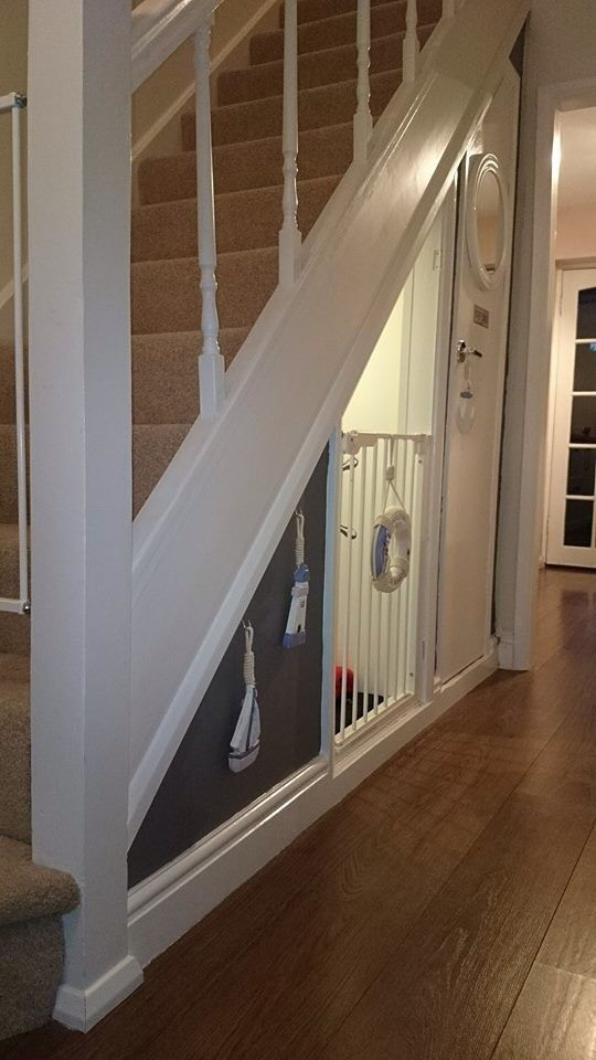 Dog space under the stairs (instead of a kennel)