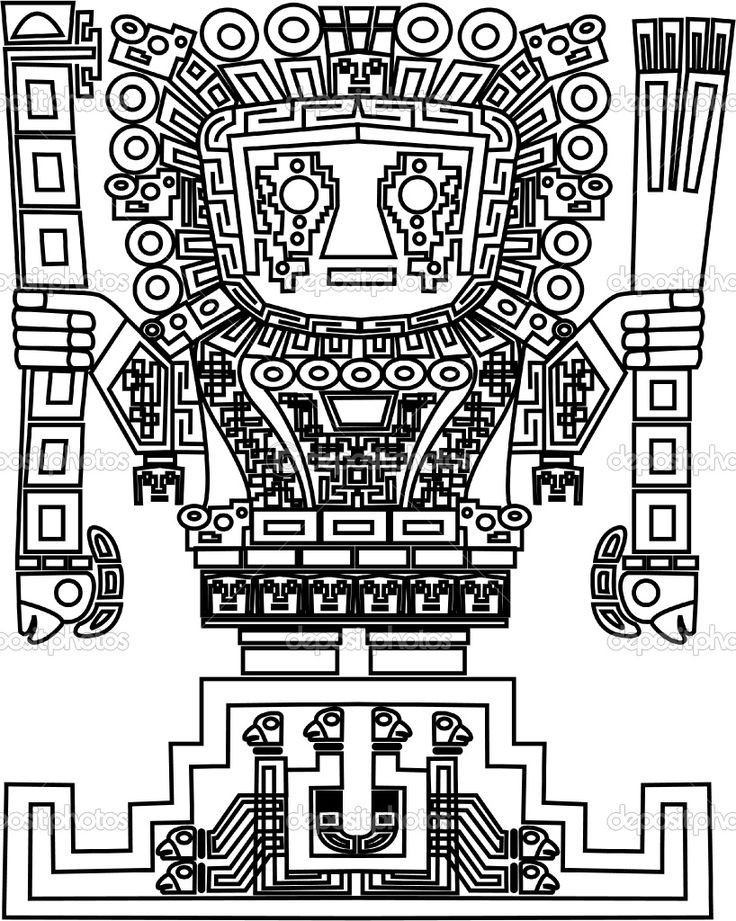 inca Colouring Pages