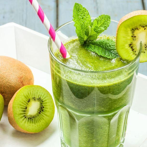 Smoothie kiwi-banane-menthe au Thermomix®