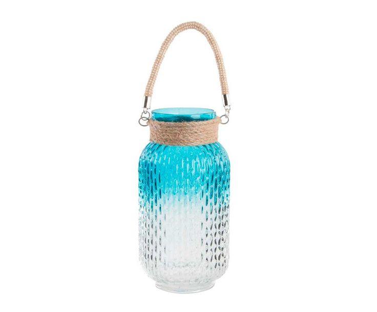 Portavelas Loto - azul y transparente MEDIDAS Diámetro: 13 cm Alto: 27 cm COLOR Azul, blanco transparente, beige desde 17.99 Nuestro precio *