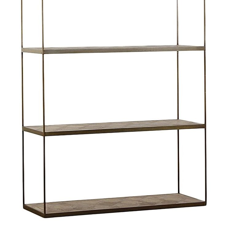 Maximise the storage and display space in your bedroom, living room or study with the versatile Atticus Wide Bookshelf, Gold from Horgans.