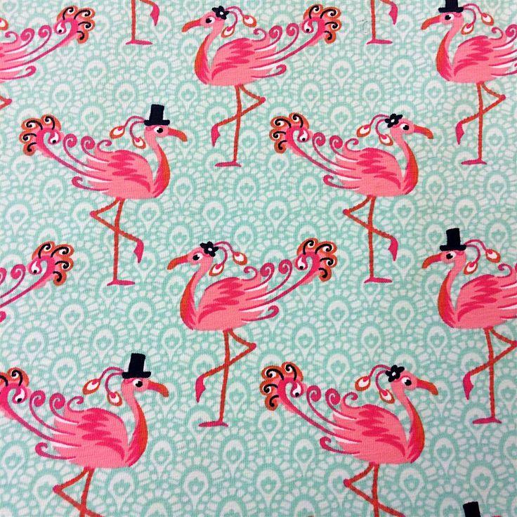 Tricot Stof Flamingo Voorjaar Zomer Collectie 2015