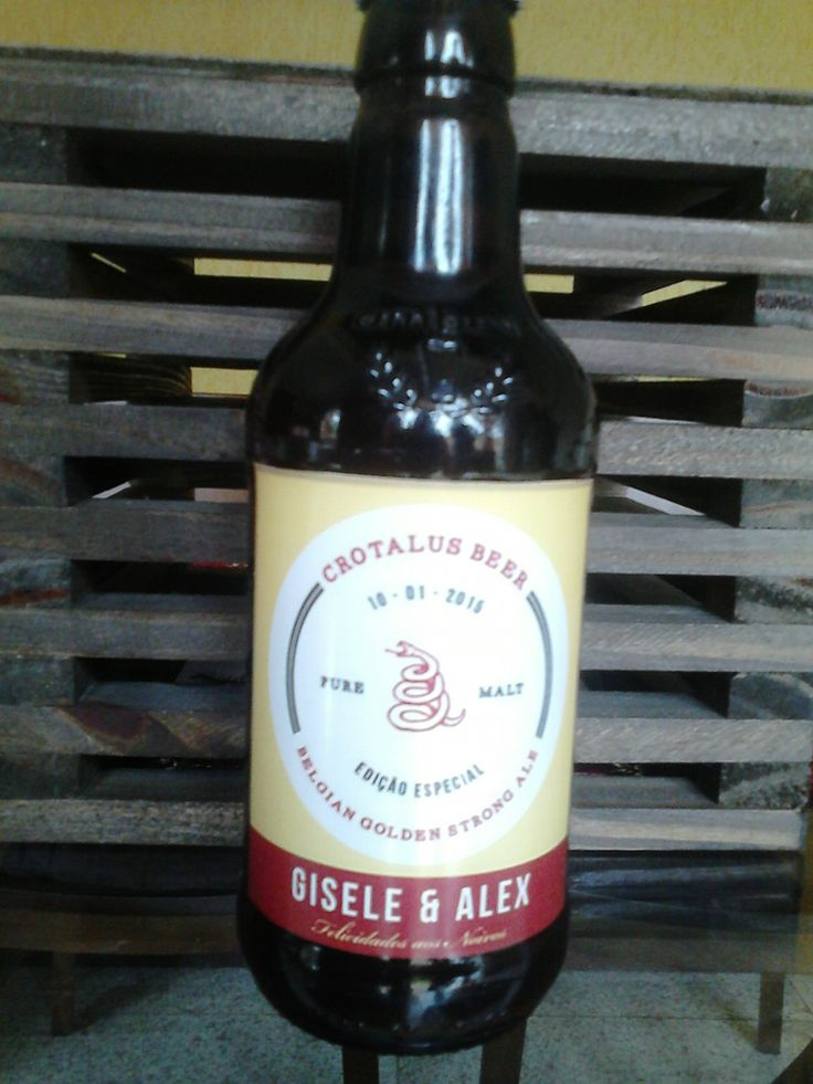 Produção da Crotalus Beer para os noivos da Família de Ricardo Dal Molin.
