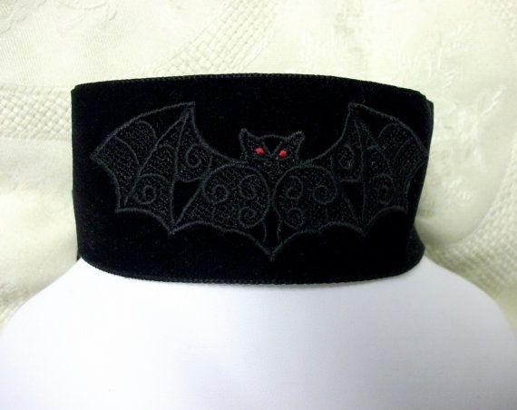 Gothic  black velvet collar neckband  by blackunicorndesigns, £15.00