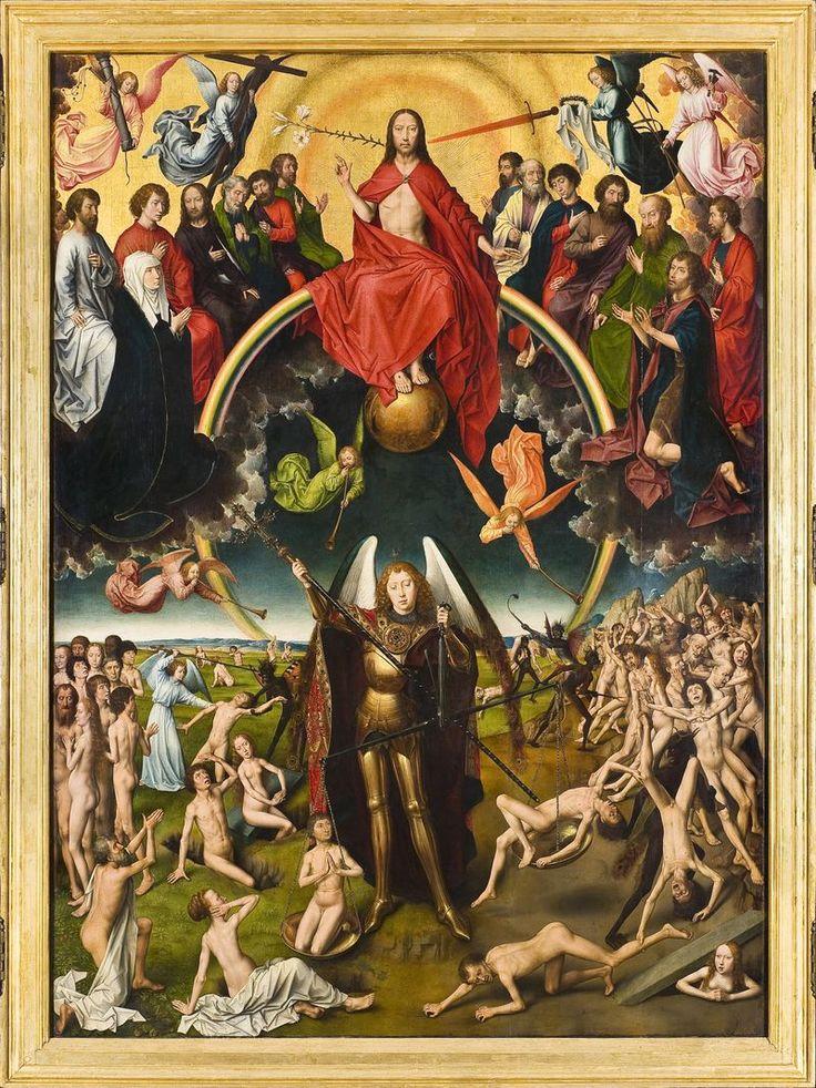 Hans Memling (ok.1430 - 1494),Sąd Ostateczny, 1467-1473, technika mieszana, tempera, olej na desce,fragment: część środkowa ołtarza