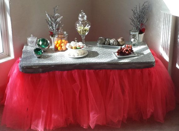 baileyhadaparty  https://www.etsy.com/listing/201882802/tutu-table-skirt-tulle-table-skirt?ref=shop_home_active_2