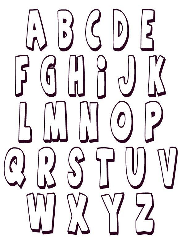 Letras Mayúsculas  rectas 1