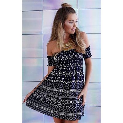 Sale Zenith Dress Aztec Black Online