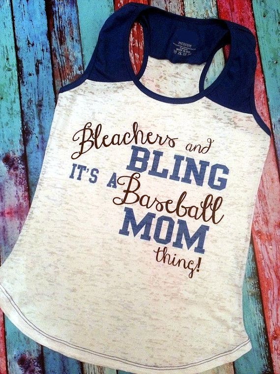 Hey, I found this really awesome Etsy listing at https://www.etsy.com/listing/189974713/bleachers-and-bling-baseball-tank-top