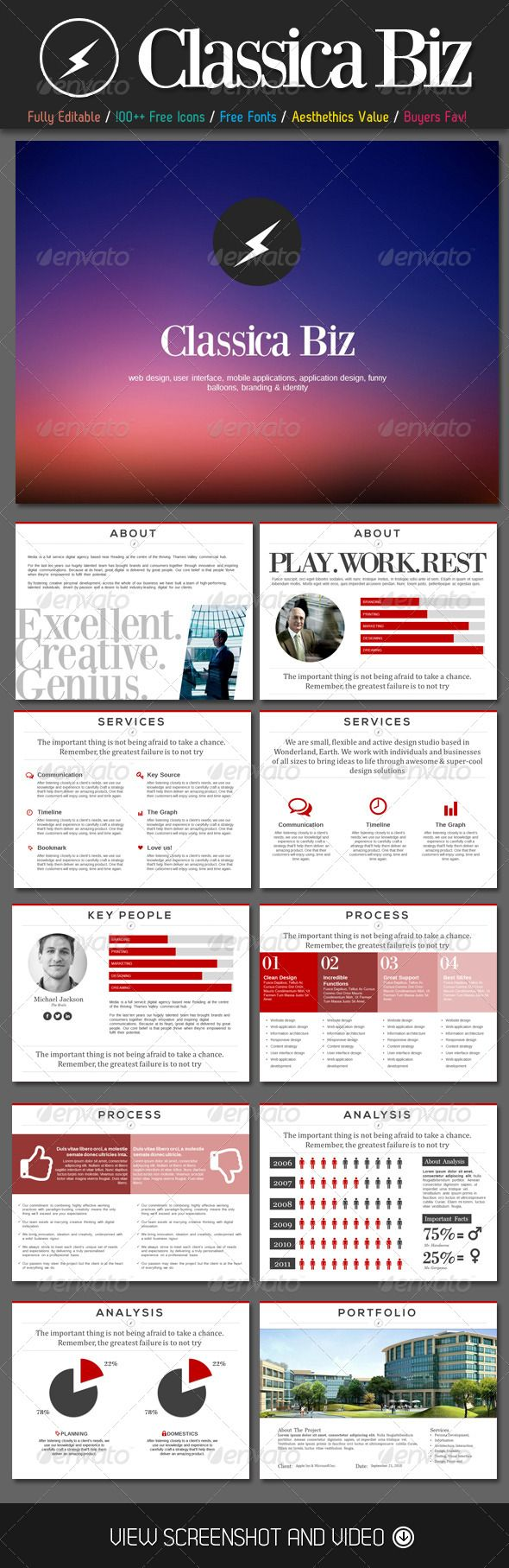 Classica Biz PowerPoint Template - GraphicRiver Item for Sale