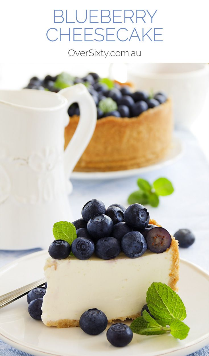 Blueberry Cheesecake - a classic recipe for a truly classic treat. Makes a delicious birthday cake or dinner party dessert.