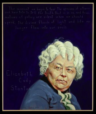 Elizabeth Cady Stanton. Americans Who Tell the Truth by Robert Shetterly.