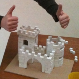 Zelf kastelen bouwen. Groep 5.