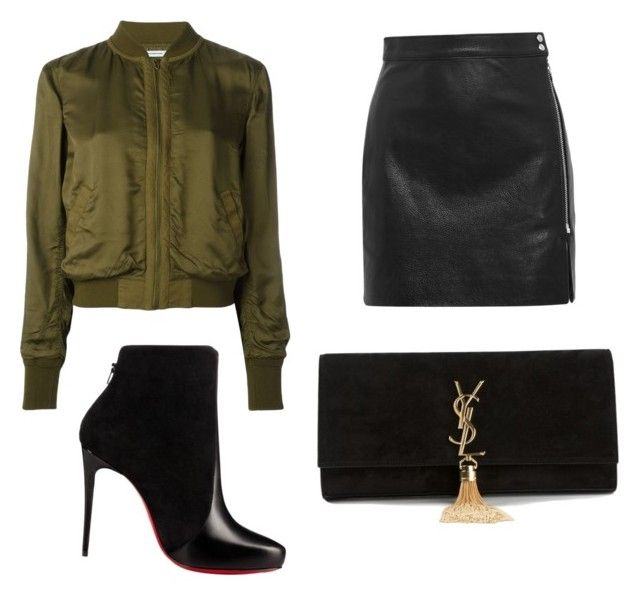 Bomber jacket sexy outfit by genyapol on Polyvore featuring polyvore fashion style T By Alexander Wang IRO Christian Louboutin Yves Saint Laurent clothing