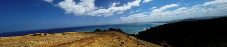 From the very top of the sand dunes looking towards Ahipara