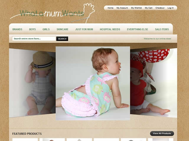 Web design for What a Mum Wants.  http://www.whatamumwants.com.au