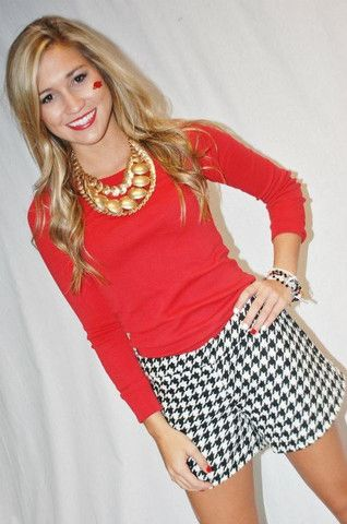 Houndstooth Shorts | Impressions Online Women's Clothing Boutique