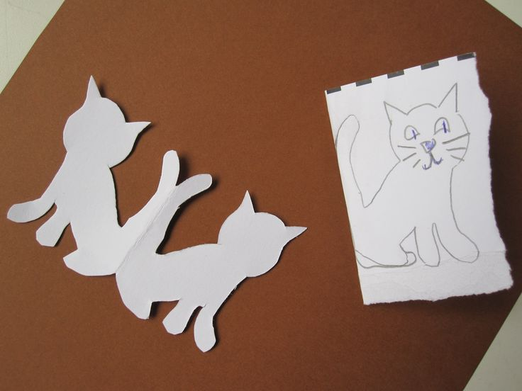 How to make a cat made of cardboard