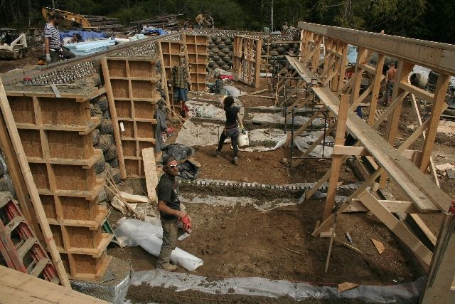 My Survivor, Island Earthship' Build with Michael Reynolds In BC ...