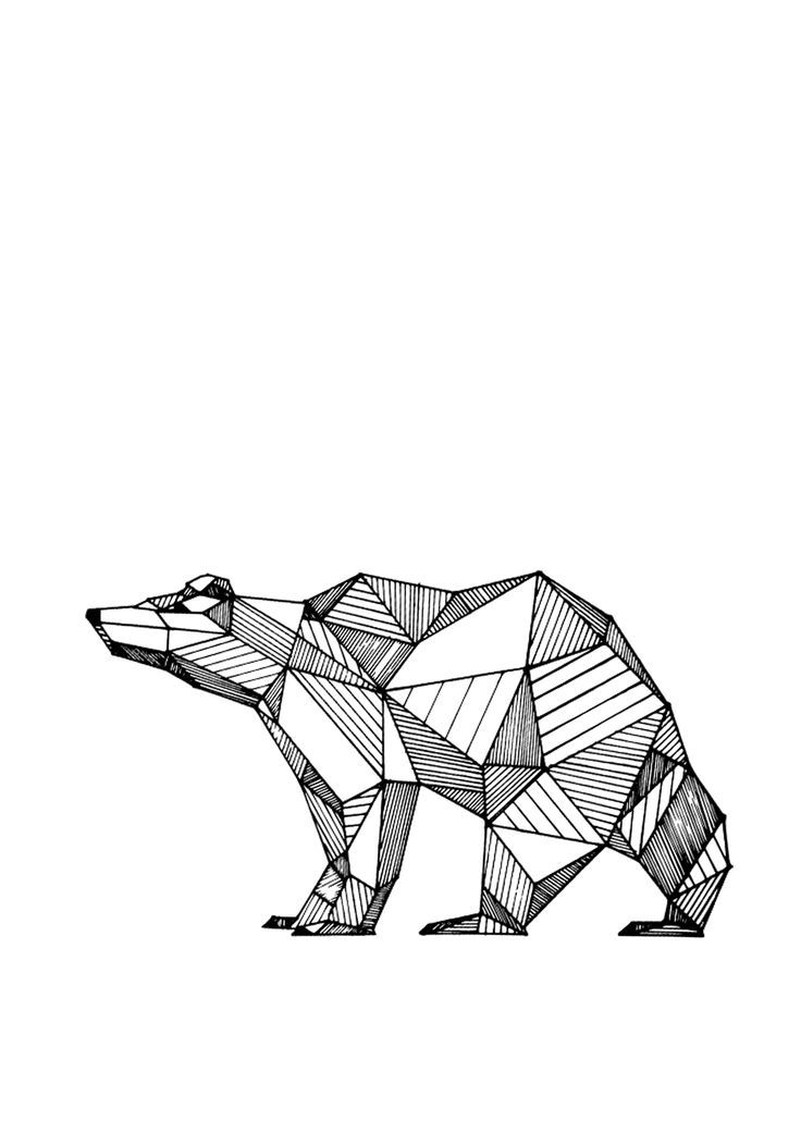 geometric drawings animals black and white - Penelusuran Google