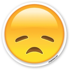Disappointed Face | Emoji Stickers