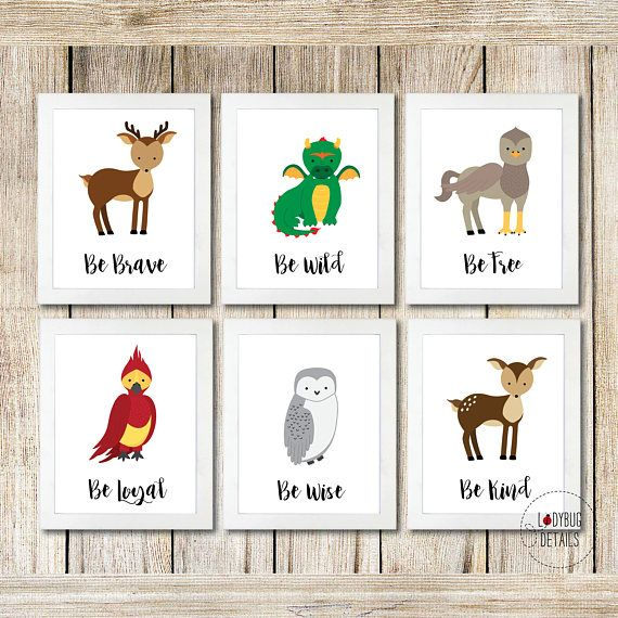 Magical Woodland Nursery Wall Art Harry Potter Nursery. We have this in our boy's nursery, awesome!