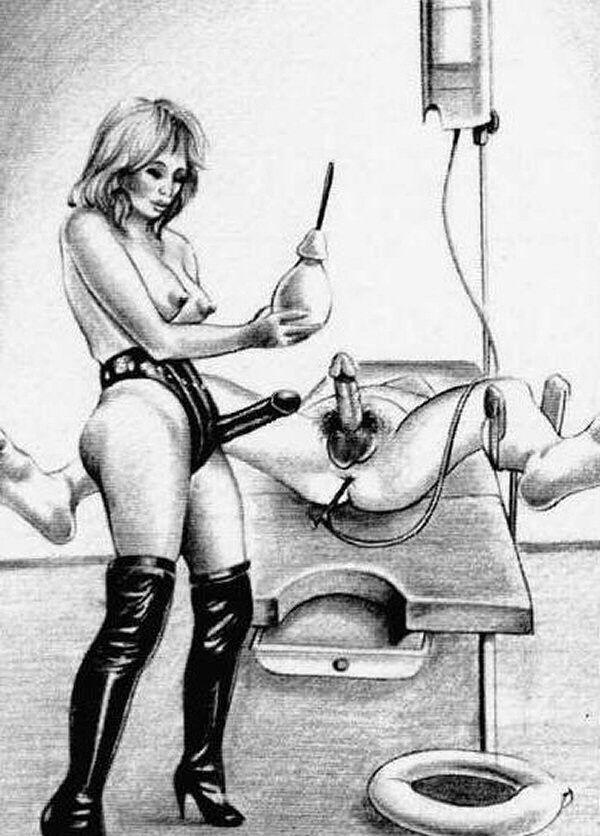 госпожа наказывает раба клизмой - 13