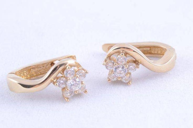 Cercei aur cadouri  bijuterii zircon