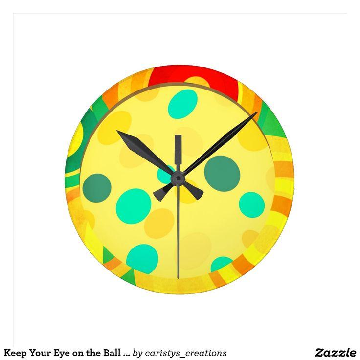Keep Your Eye on the Ball .Nursery Room Clock