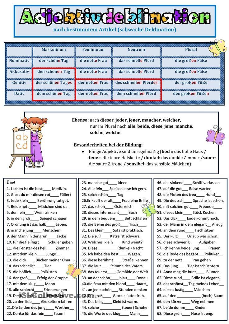 Deklination der Adjektive 1