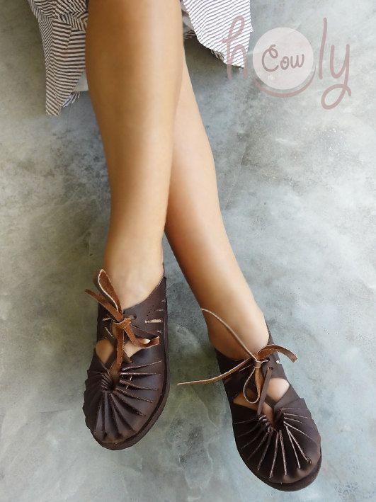 Sandales en cuir marron faites à la main, sandales en cuir, sandales pour femmes, sandales en cuir pour hommes, sandales en cuir pour femmes, chaussures pour femmes, sandales hippie