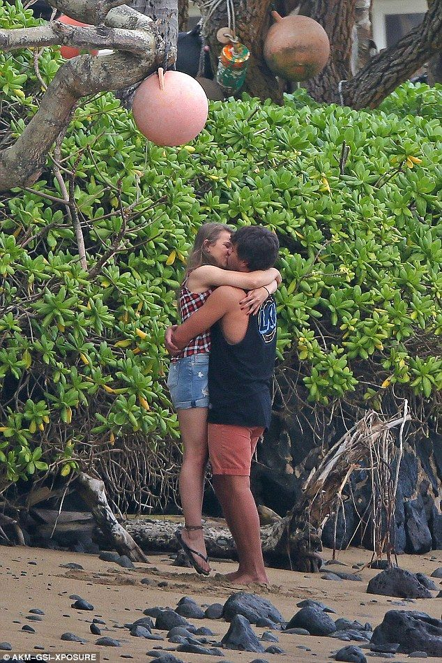 Close: The couple went public with their romance in July