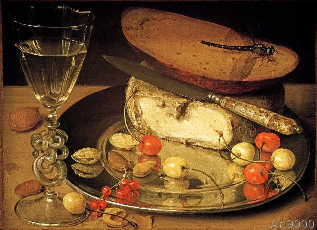 Georg Flegel - Still Life with Cheese and Cherries