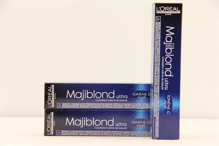 l'Oréal Professionnel Majiblond Haarverf 902 50ml  L'Oréal Professionnel Majiblond. Deze permanente verhelderende kleuring geeft een ultra blonde maar zachte look. De Ionen-G en de nieuwe Incell technologie verzorgt het haar en verstevigt van de kern tot het oppervlak. Geeft stralend gezond haar met een perfecte kleur. Biedt ontkleuring en nuancering in een proces en levert het ultieme blondeerresultaat.  EUR 9.25  Meer informatie