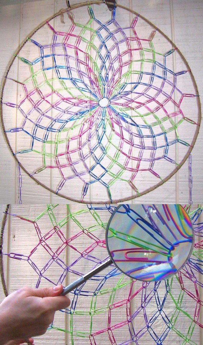 Paperclip Dreamcatcher by JPCopper on DeviantArt (inspiration for something similar done in crochet)