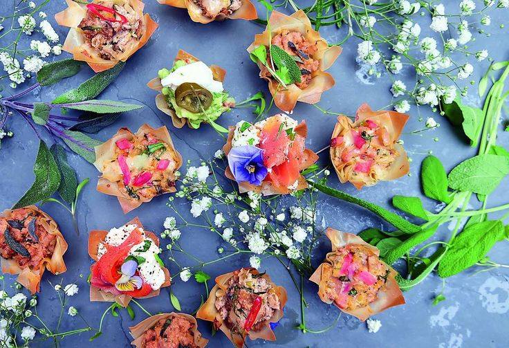Tiny fiddly morsels really aren't our style, so we are constantly thinking about ways to make party food that feels hearty even when bite-sized. These filo canapés are ideal. They are incredibly easy to make, look impressive and, importantly, feel light but satisfying. The fillings can be made the day before, and while you can make your own filo, a shop-bought one (we like Waitrose's) works just fine. Whip these into the oven just before guests arrive, when the lights are dimmed, the music's…