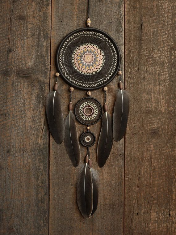 Dream catcher / Gray dreamcatcher / Large dream by MyHappyDreams