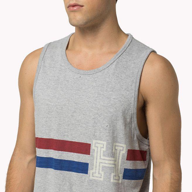 Grey Hilfiger Denim Cotton Tank Top Men TH1856