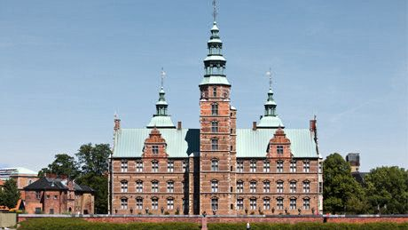 Rosenborg Slot. A small castle in the center of Copenhagen. The castle is now a museum and home of the crown jewel as well as the Danish Royal Guard.