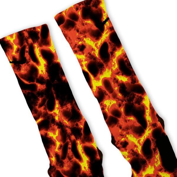 The Floor Is Lava Custom Nike Elite Socks – Fresh Elites