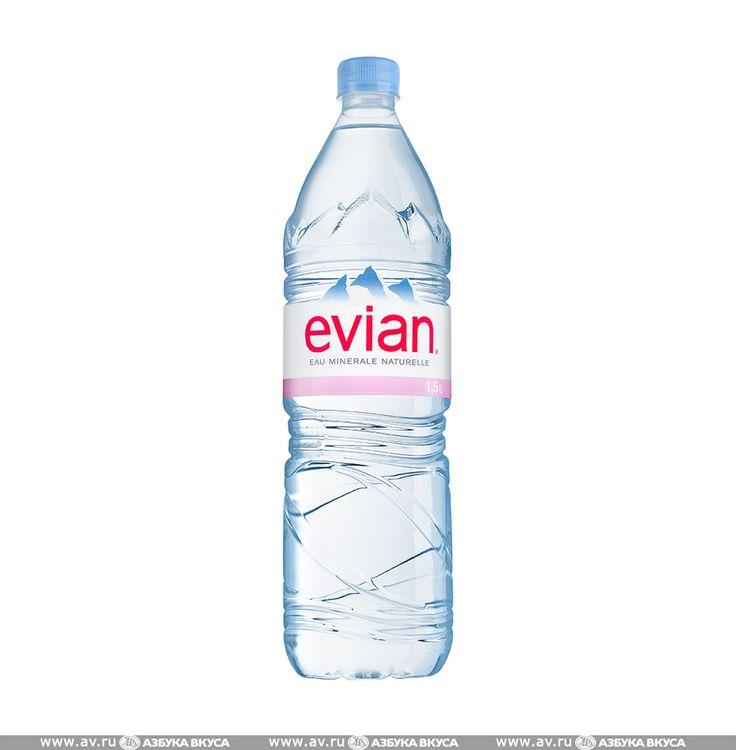 Вода минеральная Evian природная негазированная 1.5 л пластиковая бутылка Франция по цене 192 руб 0 коп