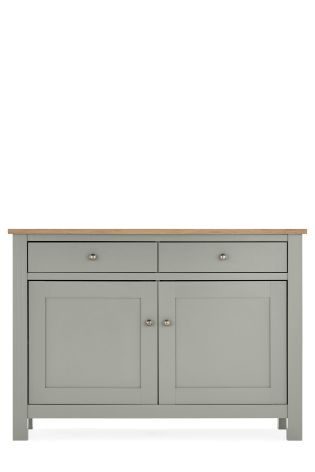 Love the Stanton Grey Sideboard - would look great in our #hallway paired with our grey slate floor and brilliant white walls