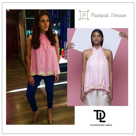 Ambika Anand slays in a pink Pushpak Vimaan top. Love her look? Styled by Manisha Melwani. #TDL #thedesignerlabels #myonlinerunway #instafashion #indiandesigner #fashiondesigner #fashiontrends #india #designer #womenswear #Style #indianfashion