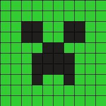 Creeper Minecraft Perler Bead Pattern